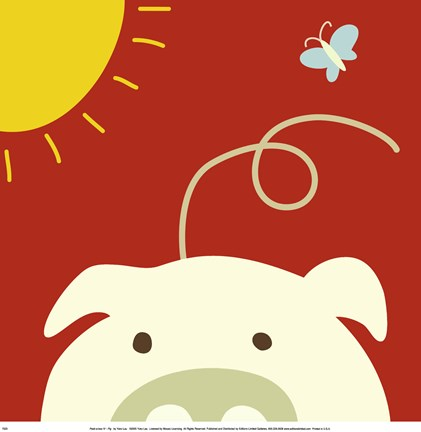 Peek A Boo Iv Pig Fine Art Print By Jin Lau At