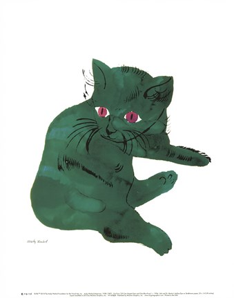 Framed Untitled (Green Cat), c. 1956 Print