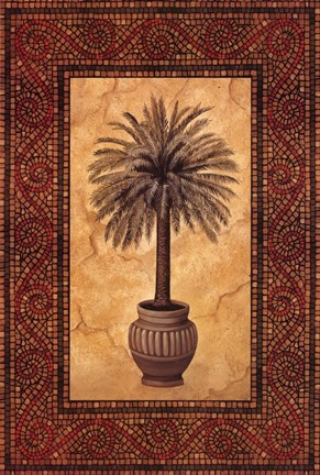 Framed Palm Mosaic II Print