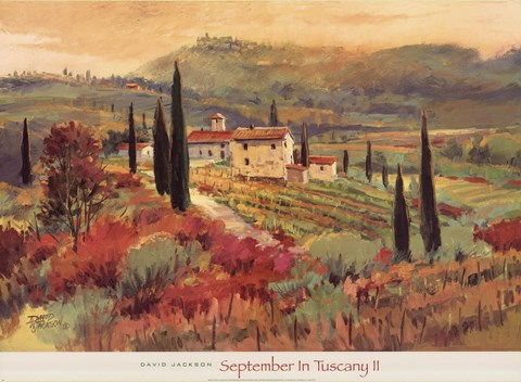 Framed September In Tuscany II Print