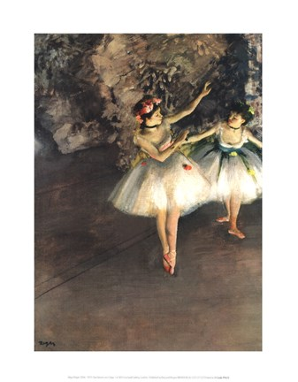 Framed Two Dancers on a Stage Print