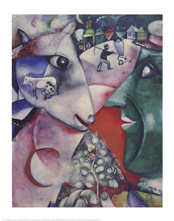 I And The Village Fine Art Print By Marc Chagall At Fulcrumgallery