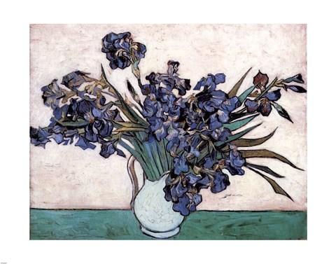 Irises In Vase C1890 Fine Art Print By Vincent Van Gogh At