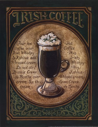 Framed Irish Coffee - Mini Print