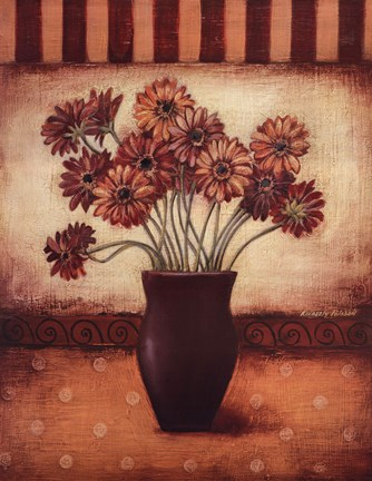 Framed Red Daisies - Grande Print