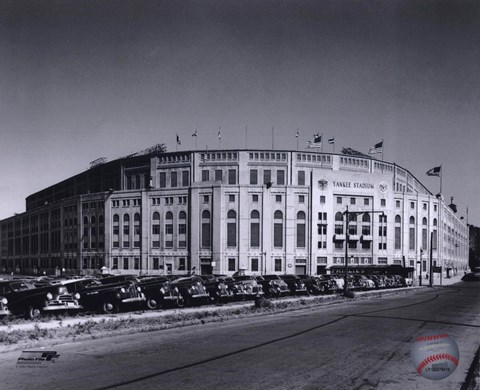 Yankee Stadium 1950 Outside Fine Art Print By Unknown At