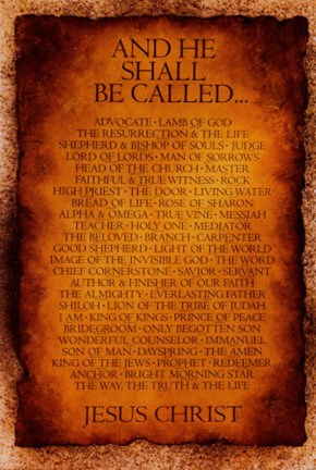 Names of Christ - And He Shall Be Called... Wall Poster by ...