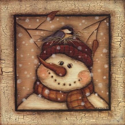 Snowman II Fine Art Print by Kim Lewis at FulcrumGallery.com