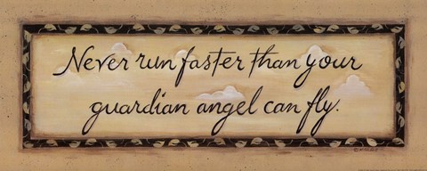 Framed Never Run Faster... Print