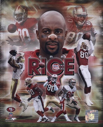 Framed Jerry Rice - Legends Composite Print