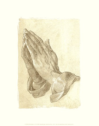 Framed Praying Hands, c.1508 Print