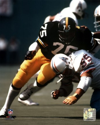 Framed Joe Greene - Action Print