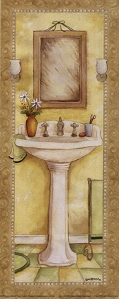 Framed Pedestal and Toothbrush Print
