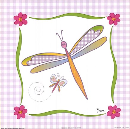 Framed Dragonfly of Hearts Print