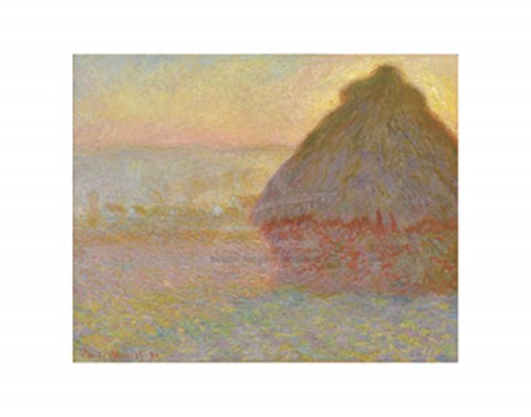 Framed Grainstack (Sunset), 1891 Print