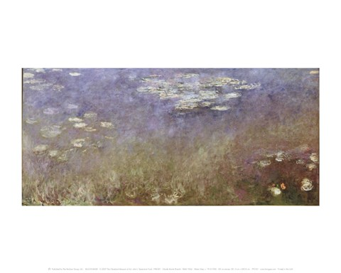 Framed Water Lilies, c. 1915-1926 Print