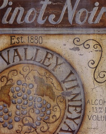 Framed Valley Vineyard II Print