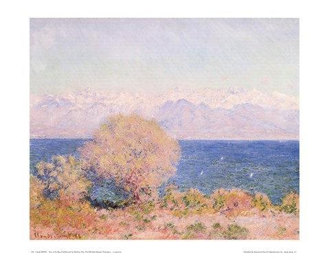 Framed View of Bay At Antibes & Maritime Alps Print