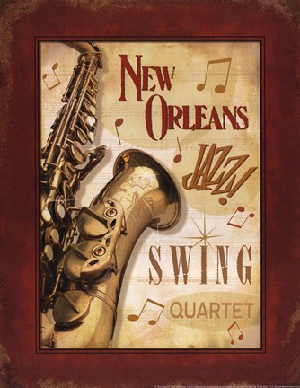 Framed New Orleans Jazz II Print