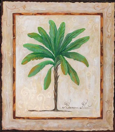 Framed Banana Palm Print