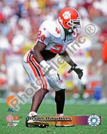 Brian Dawkins Clemson University 1994 Action Fine Art Print by ...