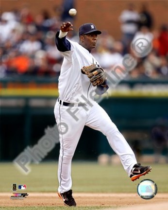 Framed Edgar Renteria 2008 Fielding Action Print