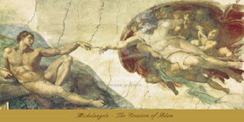 the creation of adam fine art print by michelangelo buonarroti at