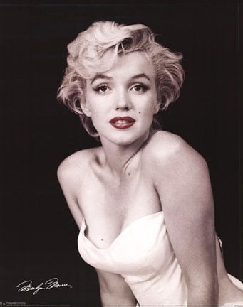 Framed Marilyn Monroe - Red Lips Print