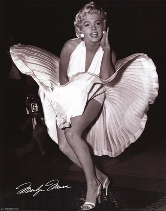 Framed Marilyn Monroe - Seven Year Itch Print