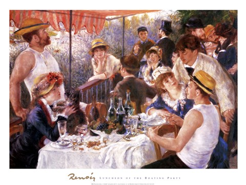 Framed Luncheon of the Boating Party Print