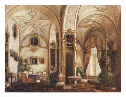 Framed Prince Andrey's Drawing Room Print