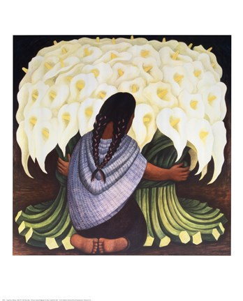 Framed Flower Seller Print