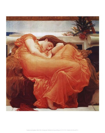 Framed Flaming June, c.1895 Print