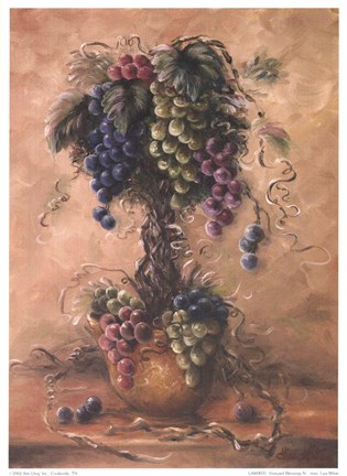 Framed Vineyard Blessings IV-Mini Print