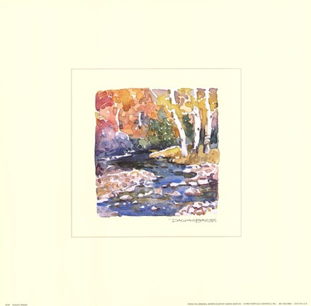 Framed Autumn Stream Print