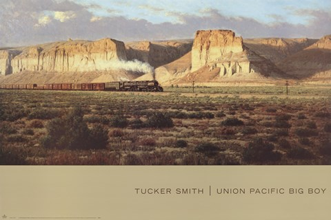 Union Pacific Big Boy Fine Art Print By Tucker Smith At