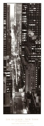 Framed 47th Street Evening Print