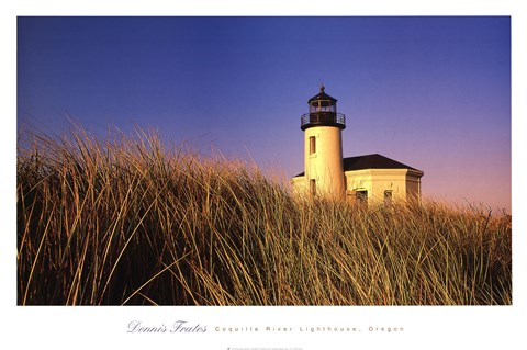 Coquille River Lighthouse, Oregon by Dennis Frates