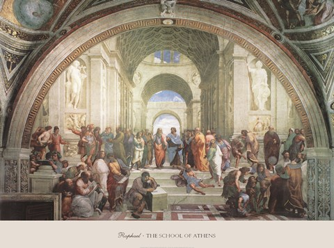 Framed School of Athens, c.1511 Print