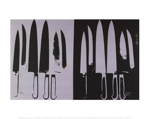 Framed Knives, c. 1981-82 (silver and black) Print