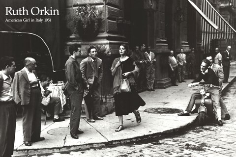 American Girl In Italy 1951 Fine Art Print By Ruth Orkin