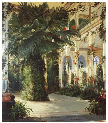 Framed Interior of a Palm House Print