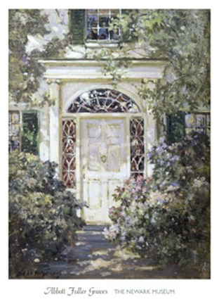 Framed Doorway, 19th Century Print