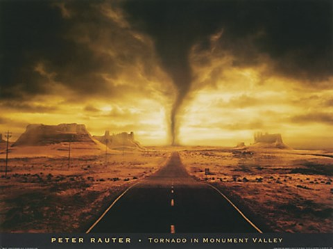 Tornado In Monument Valley Fine Art Print By Peter Rauter