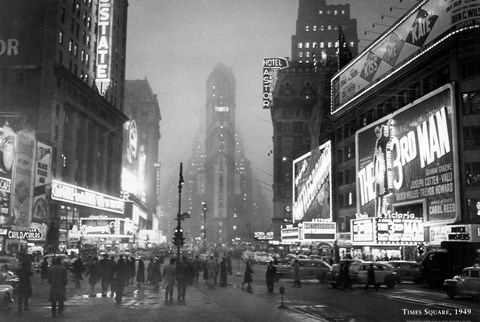 Framed Times Square, 1949 Print