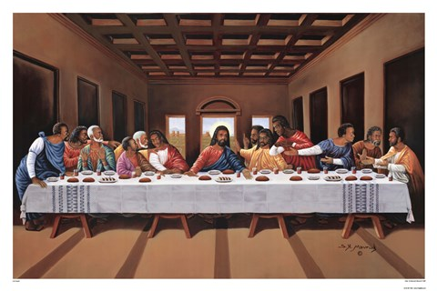 Last Supper Black Fine Art Print By Hulis Mavruk At