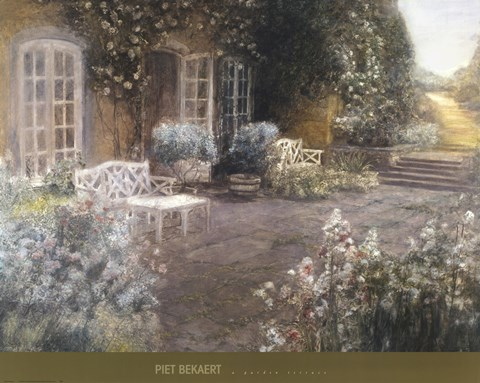 Framed Garden Terrace Print