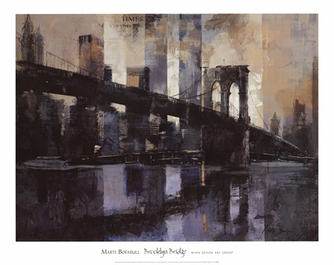 Brooklyn Bridge Fine Art Print By Marti Bofarull At