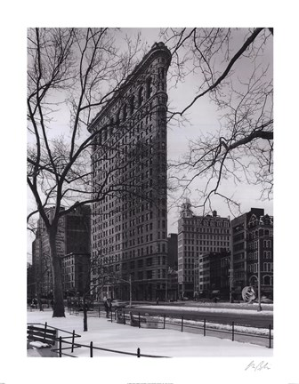 Framed Flat Iron Building Print