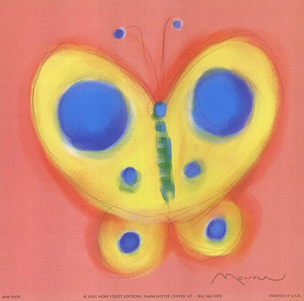 Framed Butterfly On Pink Print